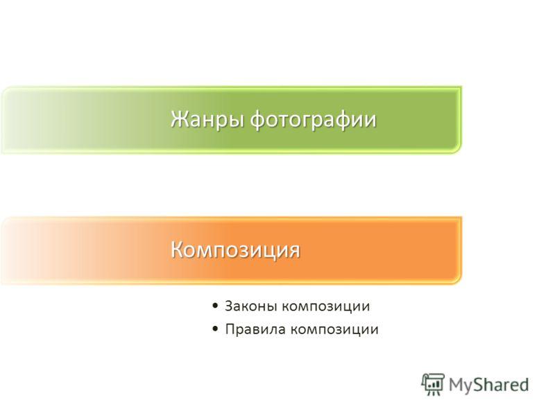 Жанры фотографии Композиция Законы композиции Правила композиции