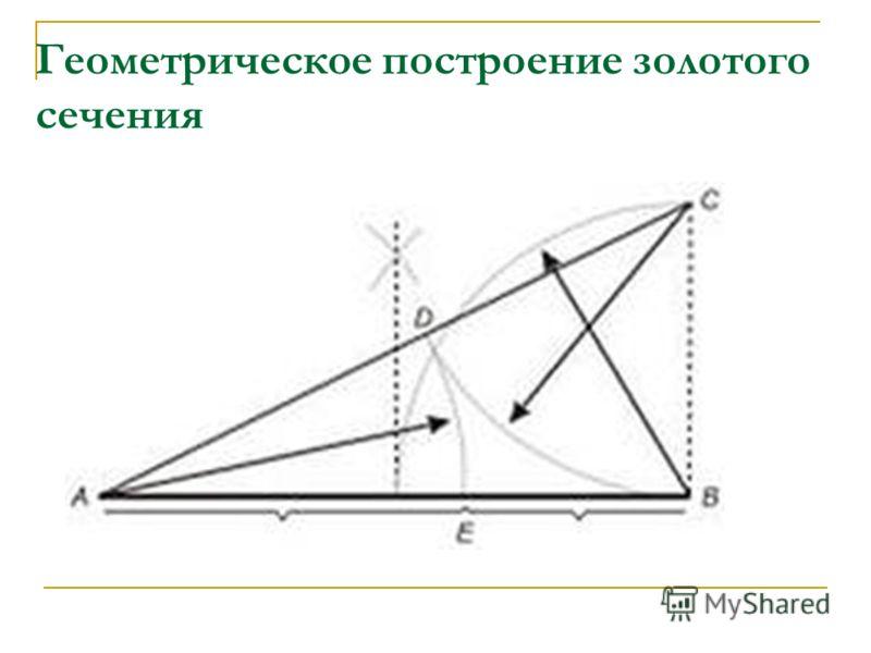Геометрическое построение золотого сечения