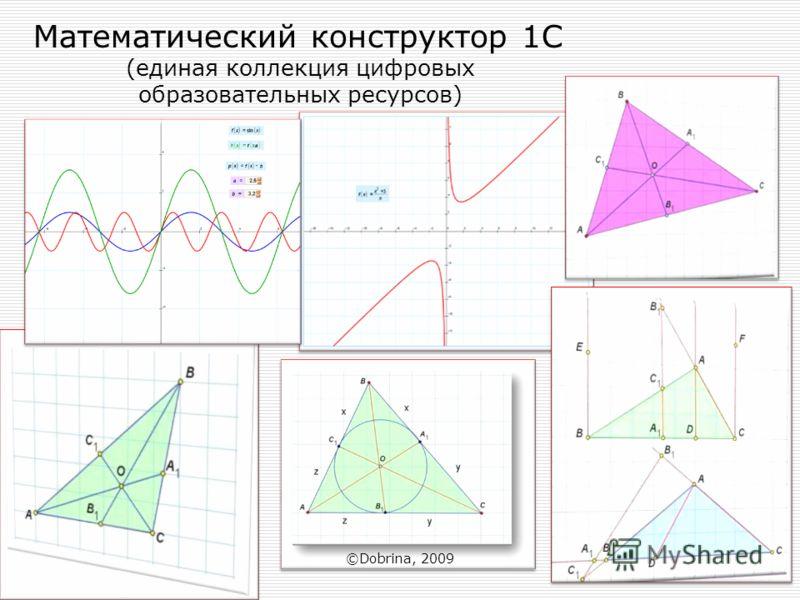 Математический конструктор 1С (единая коллекция цифровых образовательных ресурсов) ©Dobrina, 2009