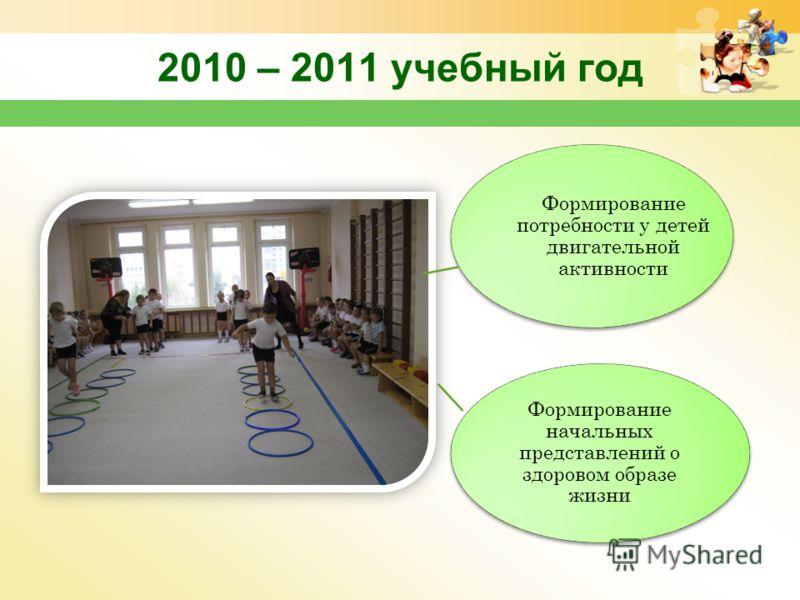 2010 – 2011 учебный год формирование