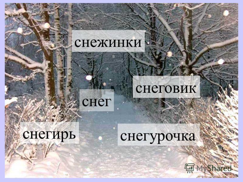 холод мороз снег Кругом лежит пушистый снег.