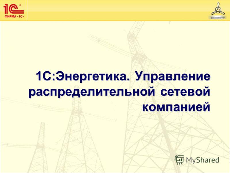 1С:Энергетика. Управление распределительной сетевой компанией