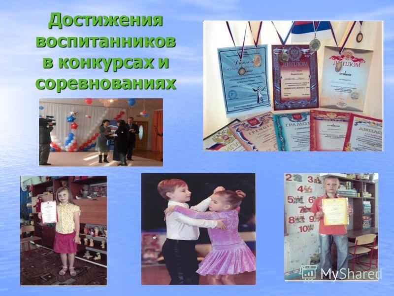 Достижения воспитанников в конкурсах и соревнованиях