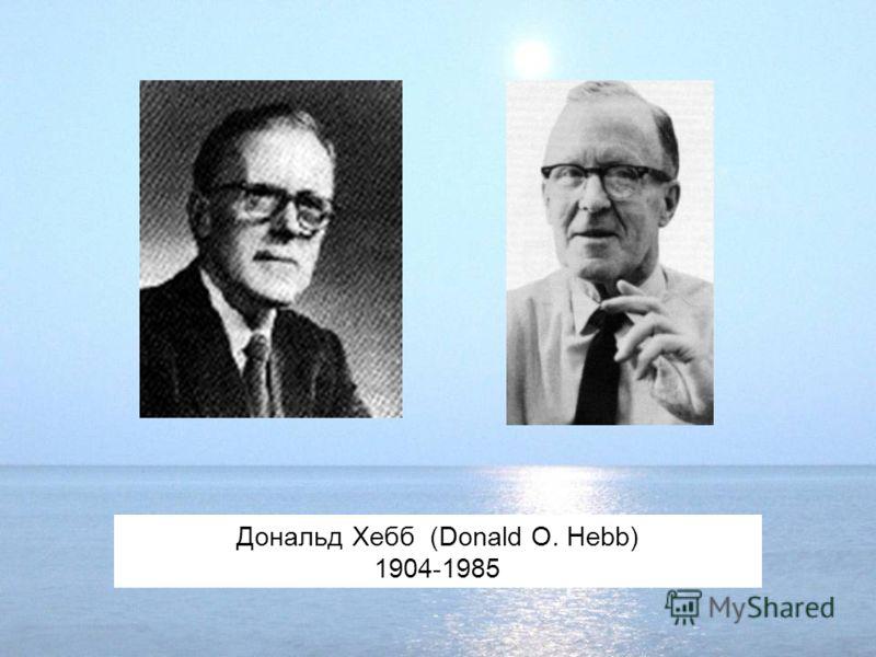 Дональд Хебб (Donald O. Hebb) 1904-1985