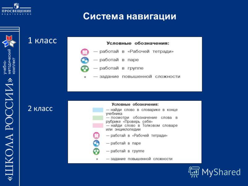 учебно- методический комплект Система навигации 1 класс 2 класс