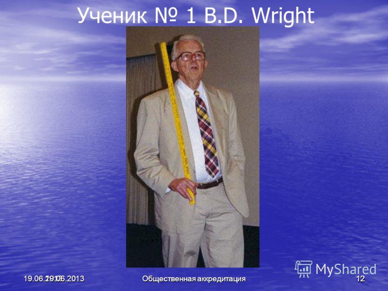 1219.06.2013 Ученик 1 B.D. Wright19.06.201312 Общественная аккредитация