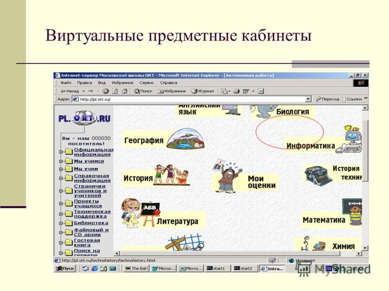 Виртуальные предметные кабинеты