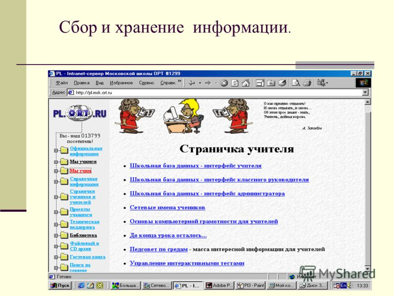 Сбор и хранение информации.