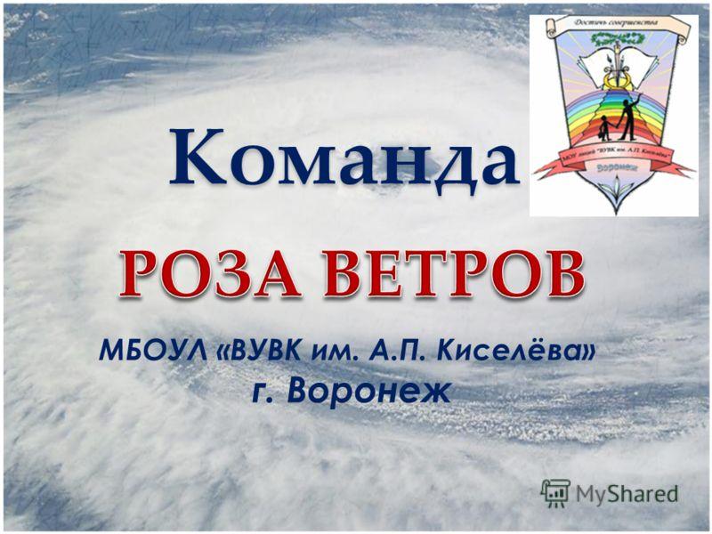 Команда МБОУЛ «ВУВК им. А.П. Киселёва» г. Воронеж