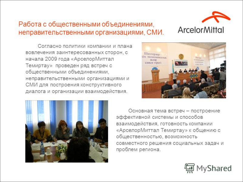 Corporate Social Responsibility ArcelorMittal Temirtau