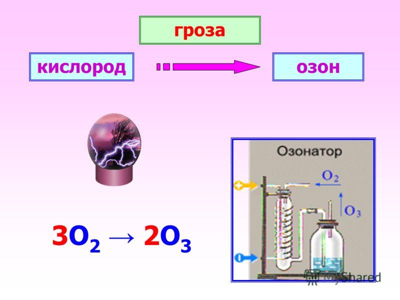 гроза 3О 2 2О 3 кислородозон