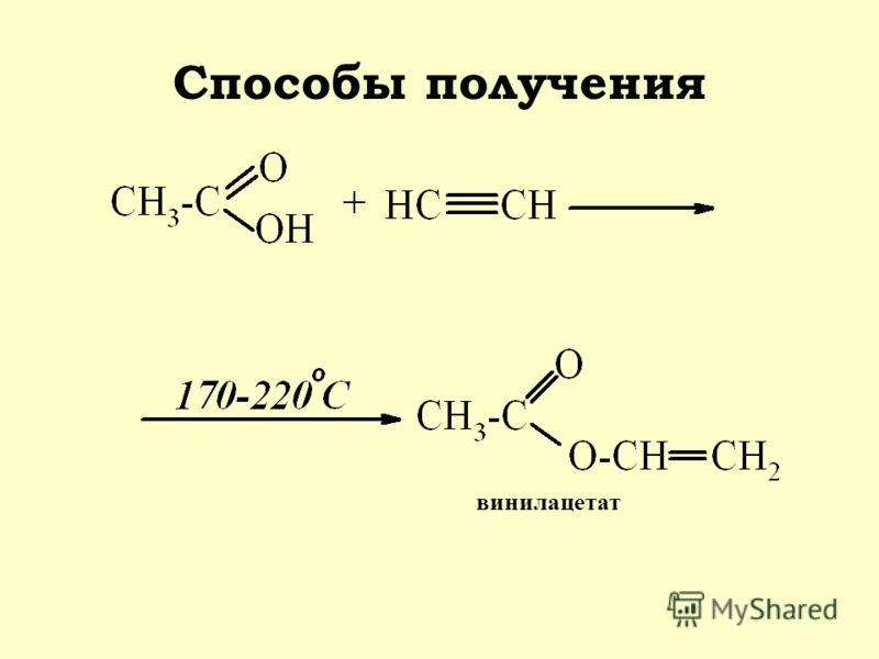 Способы получения винилацетат