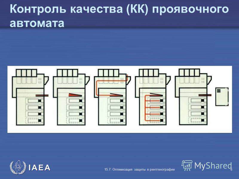IAEA 15.7: Оптимизация защиты в рентгенографии6 Контроль качества (КК) проявочного автомата