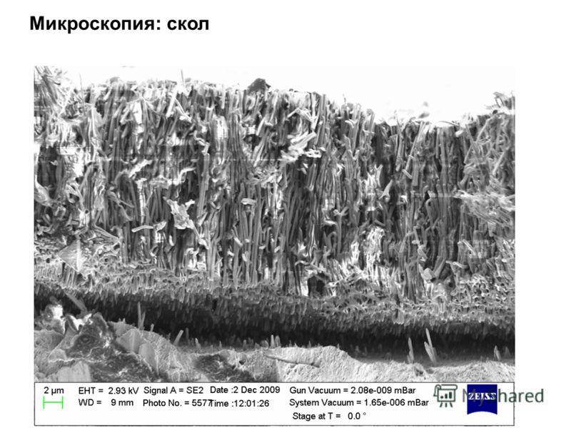 Микроскопия: скол