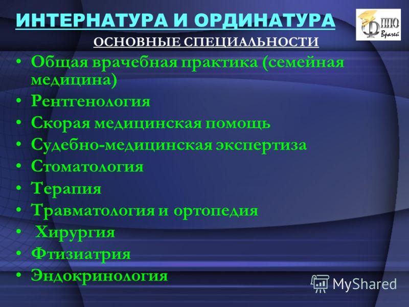 Ординатура психиатрия