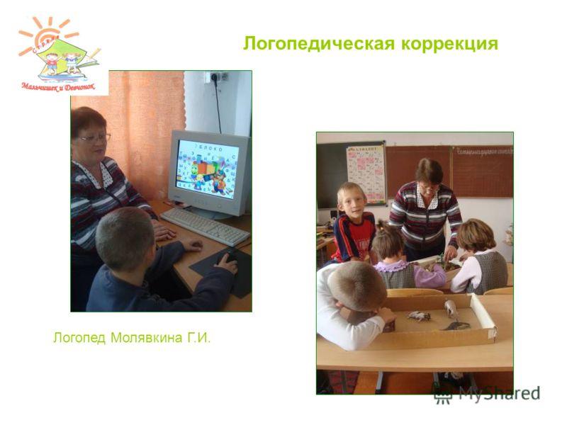 Логопедическая коррекция Логопед Молявкина Г.И.