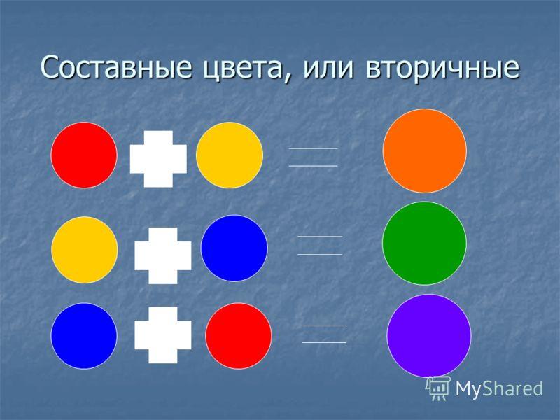 Составные цвета, или вторичные