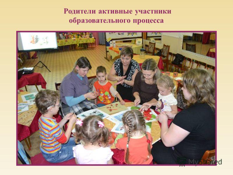 Родители активные участники образовательного процесса