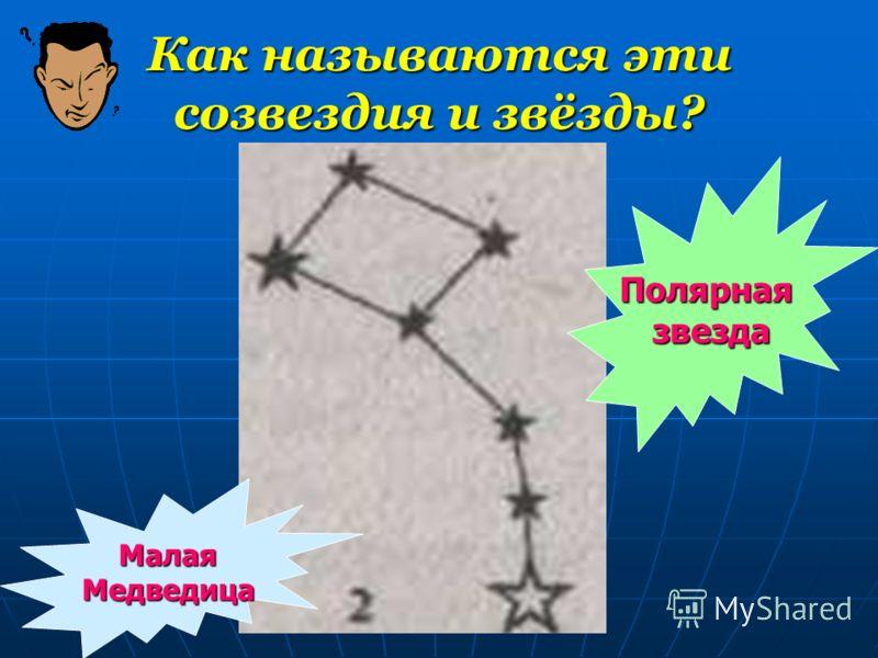 Как называются эти созвездия и звёзды? МалаяМедведица Полярнаязвезда