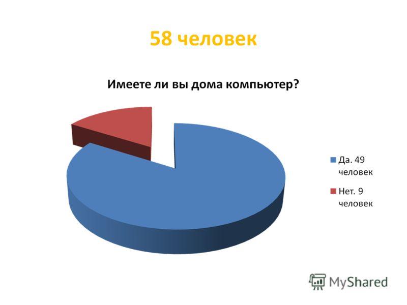 58 человек