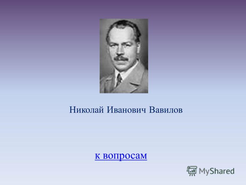 к вопросам Николай Иванович Вавилов