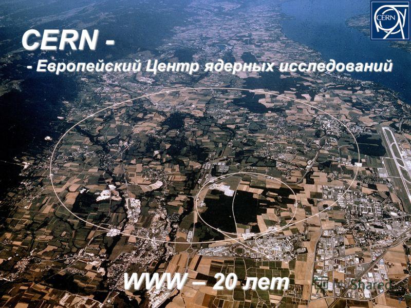 CERN - CERN - - Европейский Центр ядерных исследований - Европейский Центр ядерных исследований 7 WWW – 20 лет