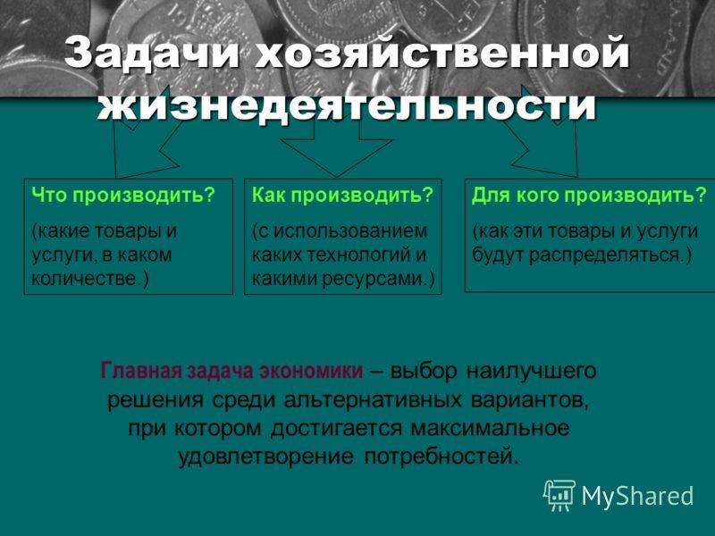 Типы экономических систем.