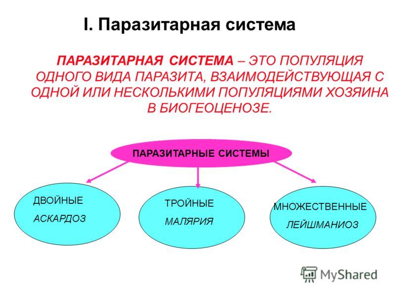 классификация паразитов человека таблица