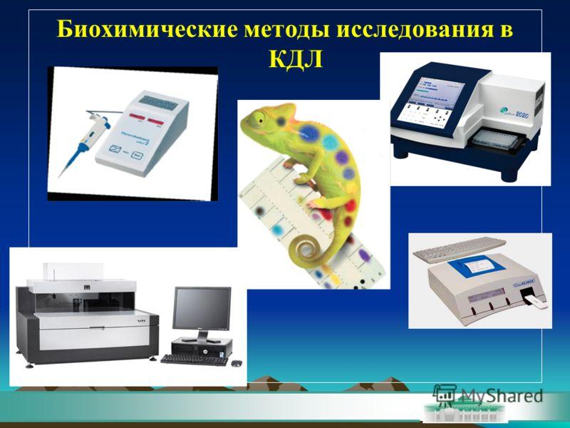 Биохимические методы исследования в КДЛ