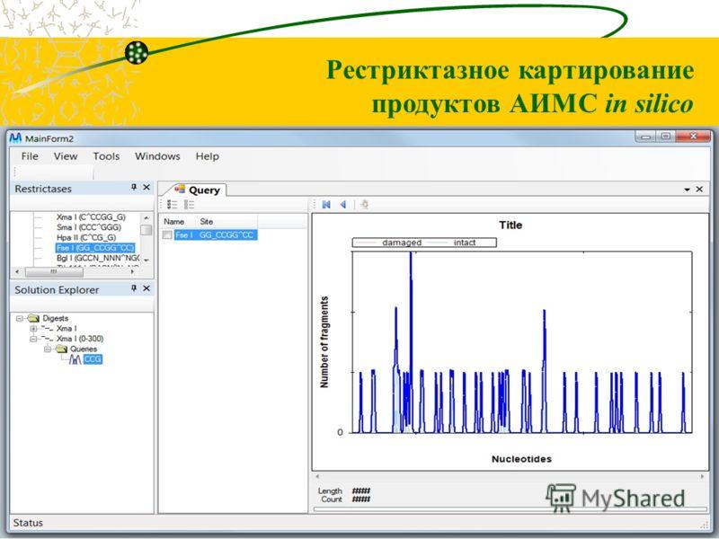 Рестриктазное картирование продуктов АИМС in silico