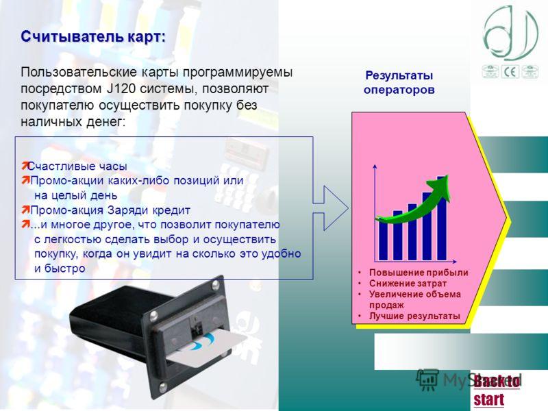 Back to start Прием купюр: Купюроприемник BT10, программа которого имеет возможность приема 6 различных купюр с 4 сторон, индивидуально проверяя каждый элемент защиты, оснащен оптическими и магнитными сенсорами и устройством накопления купюр различны