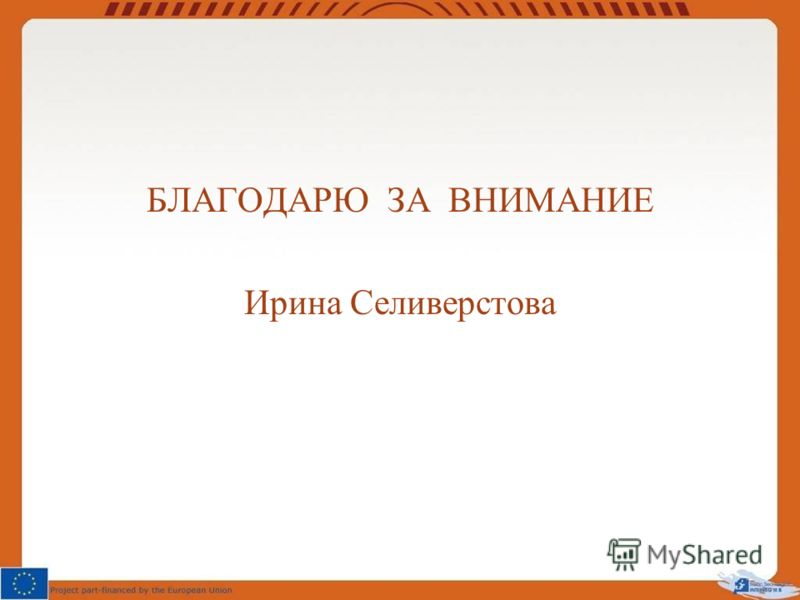 БЛАГОДАРЮ ЗА ВНИМАНИЕ Ирина Селиверстова