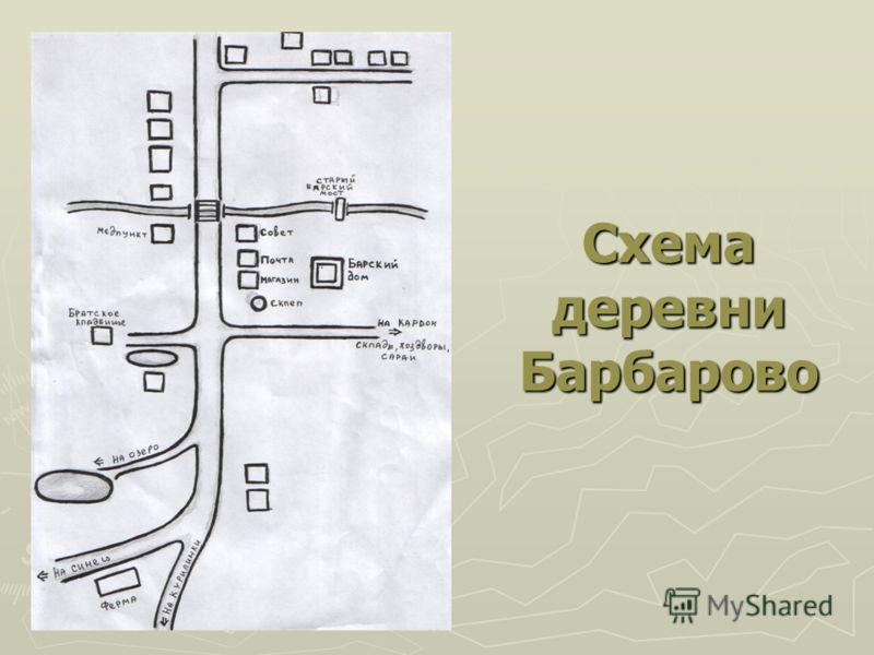 Схема деревни Барбарово