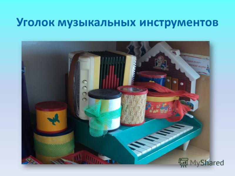 Уголок музыкальных инструментов
