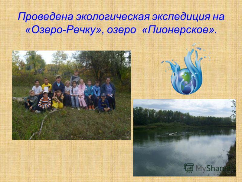 Проведена экологическая экспедиция на «Озеро-Речку», озеро «Пионерское».