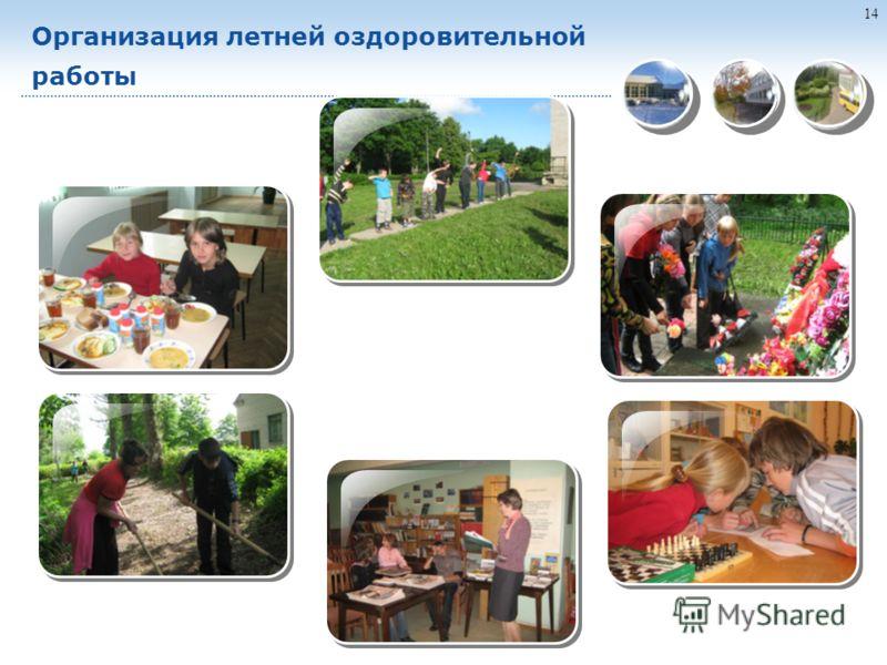 14 Организация летней оздоровительной работы