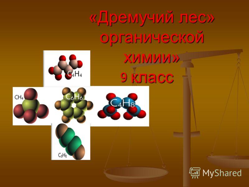 «Дремучий лес» органической химии» класс 9
