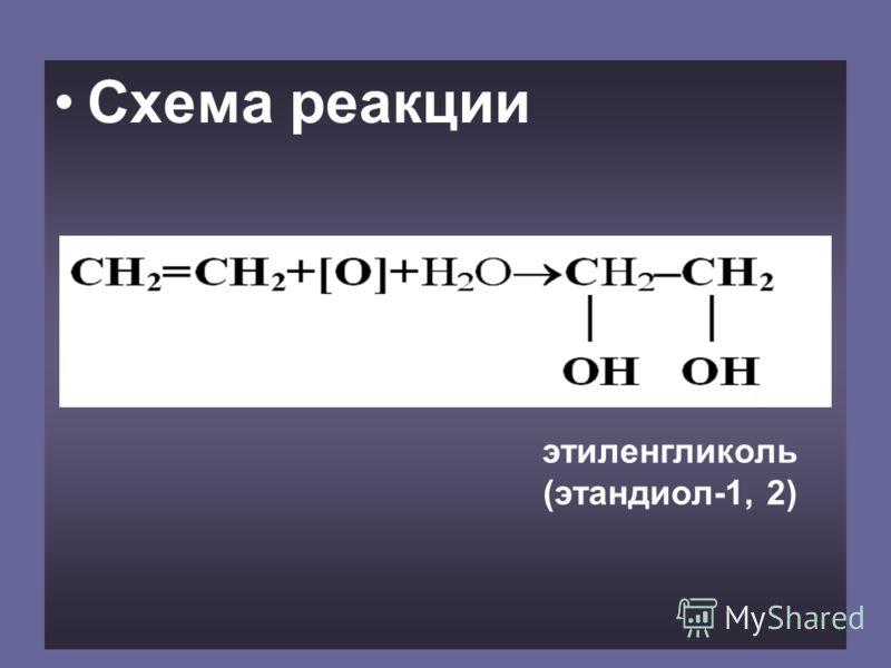 Схема реакции этиленгликоль (этандиол-1, 2)