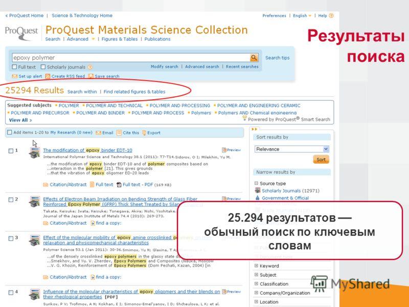 Результаты поиска 25.294 результатов обычный поиск по ключевым словам