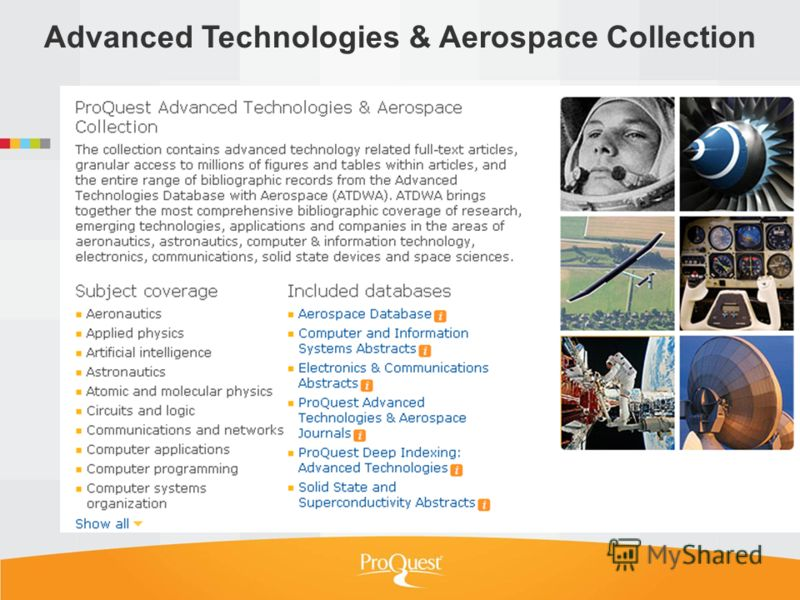 Advanced Technologies & Aerospace Collection