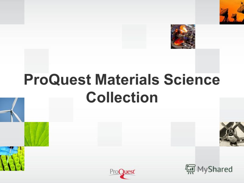 ProQuest Materials Science Collection
