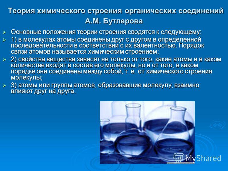 основные положения теории химического строения орган веществ 10 класс конспект урока