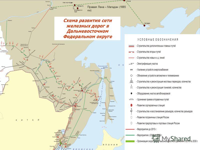 км Магадан Схема развития