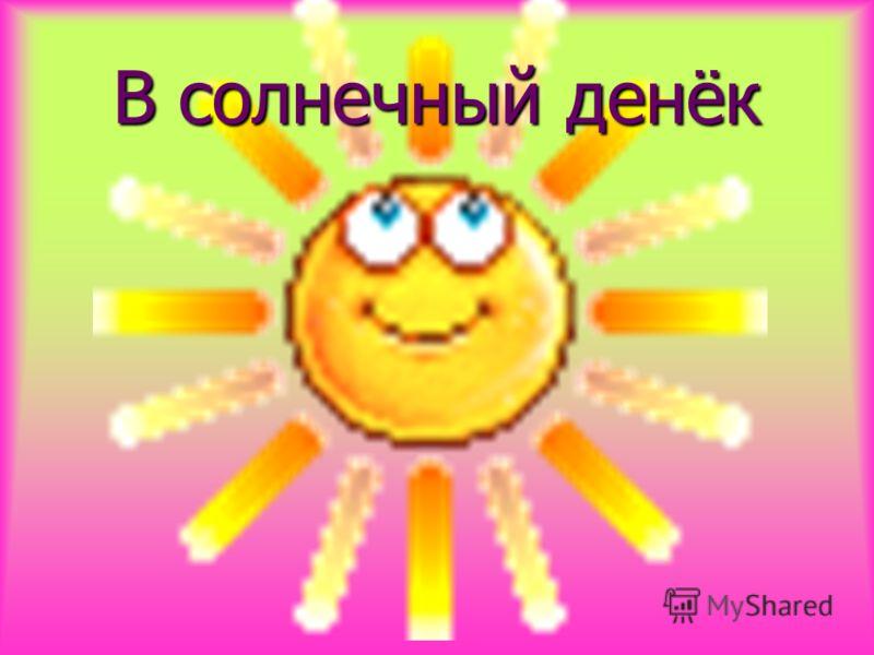 В солнечный денёк
