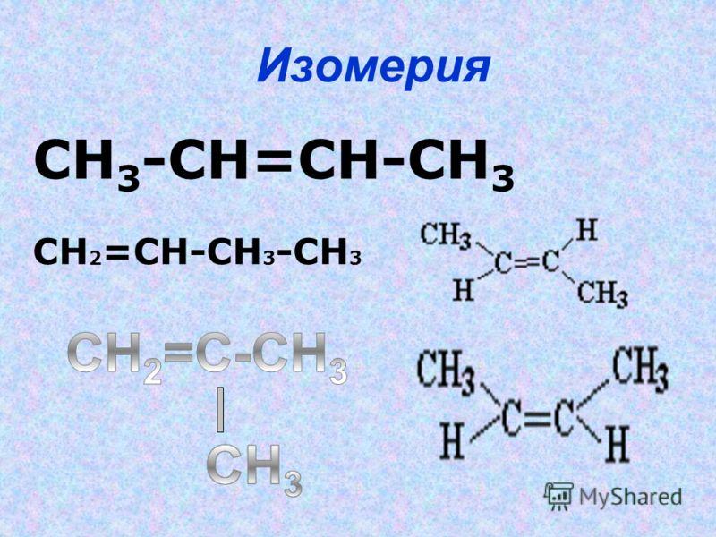 СН 3 -СН=СН-СН 3 СН 2 =СН-СН 3 -СН 3 Изомерия