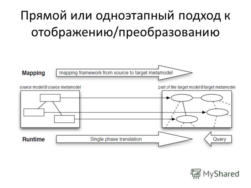 Прямой или одноэтапный подход к отображению/преобразованию