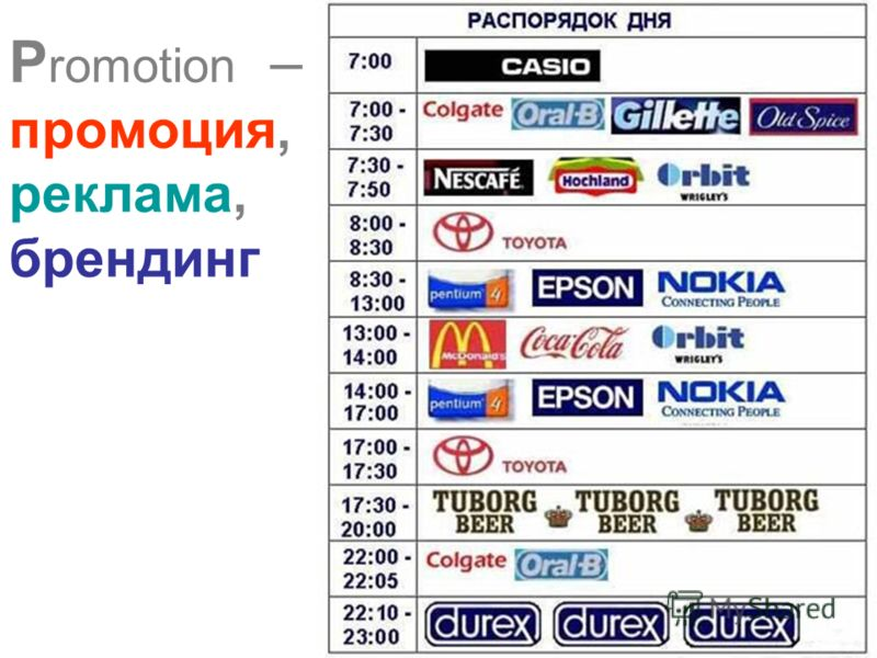 P romotion – промоция, реклама, брендинг
