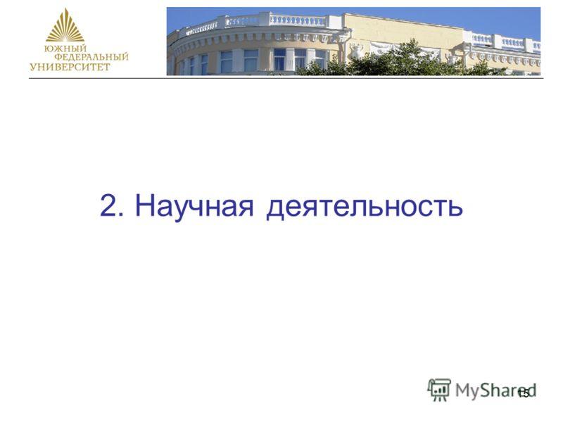 15 2. Научная деятельность