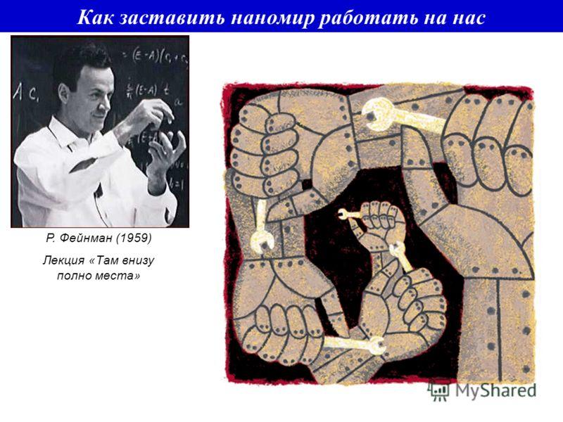 Как заставить наномир работать на нас Р. Фейнман (1959) Лекция «Там внизу полно места»