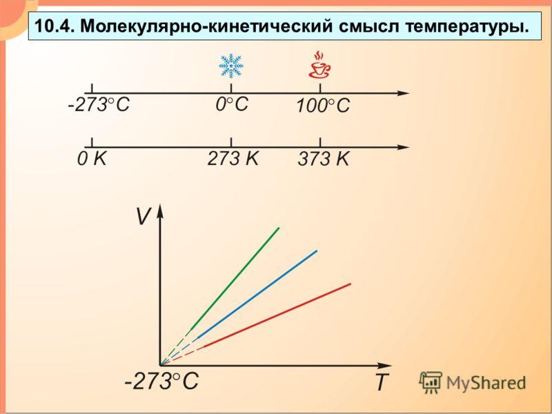 10.4. Mолекулярно-кинетический смысл температуры.